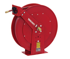 "Reelcraft 82100 OLP- 1/2"" x 100 Ft. - Dual Pedestal Low Pressure Air Hose Reel"