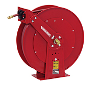 "Reelcraft 81075 OHP- 3/8"" x 75 Ft. - High Pressure Grease-  Dual Pedestal Hose Reel"